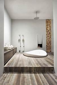 design salle de bains moderne en 104 idees super inspirantes With salle de bain design avec cheminée décorative