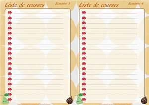 Liste De Courses À Imprimer Gratuitement : planning des menus mensuels de novembre imprimer ~ Nature-et-papiers.com Idées de Décoration
