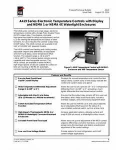 Johnson Controls A419 Instructions