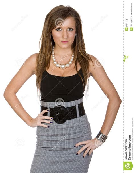 vetement femme pour bureau femme mignon dans le vêtement de bureau photographie stock