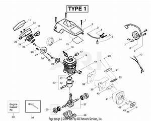 Poulan 2055le Gas Chain Saw Type 1  Woodsman 2055le Gas