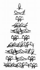 Vintage Christmas Clip Art - Bird Tree - The Graphics Fairy