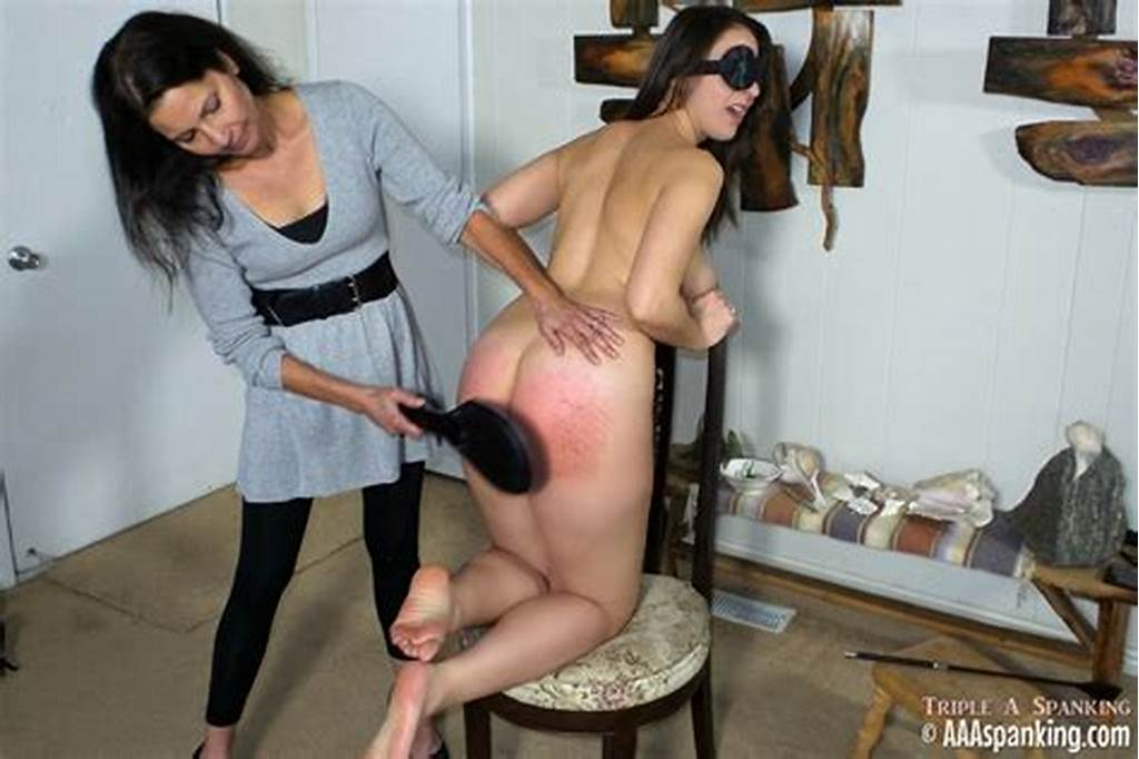 #Humiliating #Spanking #Naked #And #Blindfolded