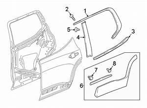Gmc Acadia Door Belt Molding  Rear  Upper   Chrome