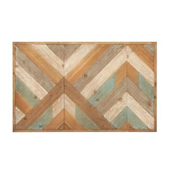 """Shop stylish and attractive wood wall art at luxedecor.com. 19""""x31"""" Teal/Tan Zigzag Wood Panel Wall Decor - Christmas Tree Shops and That! - Home Decor ..."""