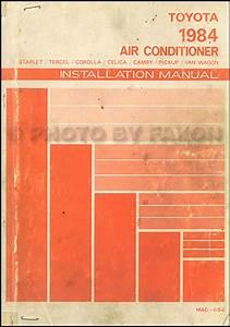 1984 Toyota Corolla Sr5 Rwd Wiring Diagram Manual Original
