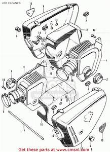 Honda Cl350 Scrambler 1972 K4 Usa Air Cleaner