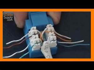 For The Cat5 Cable Rj45 Jack Wiring Diagram Free Download : how to cable a computer jack rj45 cat 5e youtube ~ A.2002-acura-tl-radio.info Haus und Dekorationen