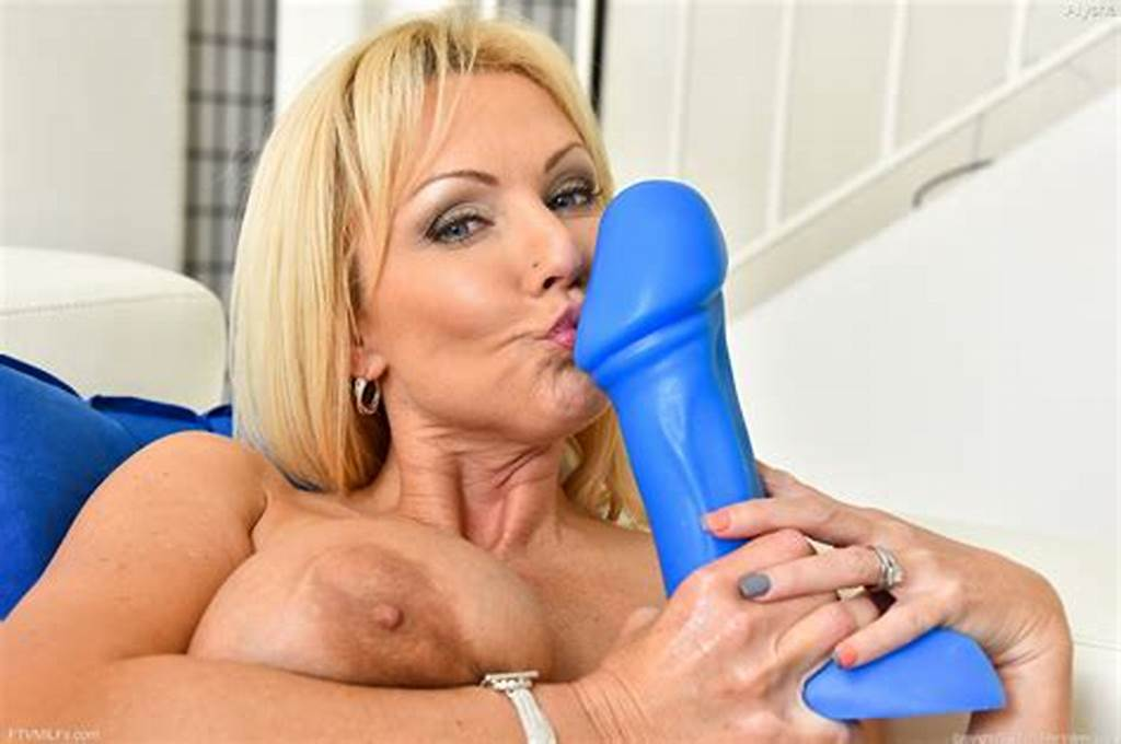 #Buxom #Blonde #Milf #Stretches #Cunt #For #Huge #Dildo #And #Bottle