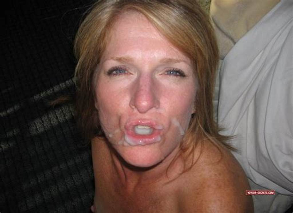 #Angry #Milf'S #Face #Is #Smeared #With #Cum
