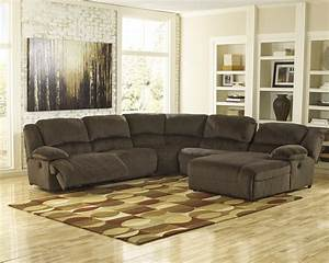 power reclining sectional with right press back chaise by With ashley sectional sofa