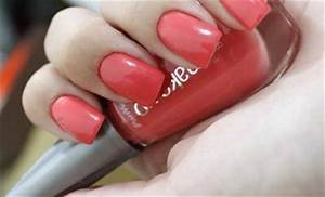 Coral Nail Polish Neon Pink Bright Light Red Orange