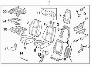 Chevrolet Tahoe Seat Back Frame  Leather  Lumbar  Driver