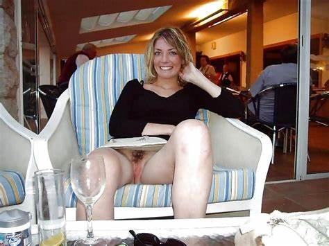 Attractive Wives Braless Muff Peek Outside Accidental Smooth Upskirts