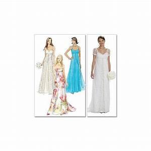 Patrons mccall39s m6030 robe de mariee 44 48 pas cher for Patron de robe de mariée