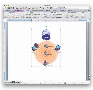 How To Add A Wireless Network Diagram To A Ms Word