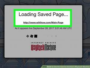 How To Use The Internet Archive U0026 39 S Wayback Machine  11 Steps