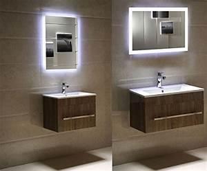 Spiegel Bad Led : dr fleischmann badspiegel led spiegel gs084n mit beleuchtung durch satinierte lichtfl chen ~ A.2002-acura-tl-radio.info Haus und Dekorationen