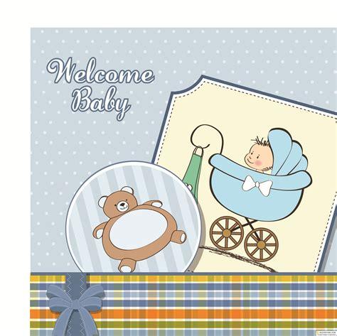 Baby announcement theme baby boy announcement kit. Векторные фоны малыш | Baby boy announcement card vector ...