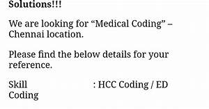 Cognizant Hiring Certified Hcc  Ed Coders