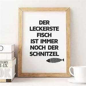 Poster Für Küche : schnitzel fisch poster spruch k che k che dekoration ~ Watch28wear.com Haus und Dekorationen