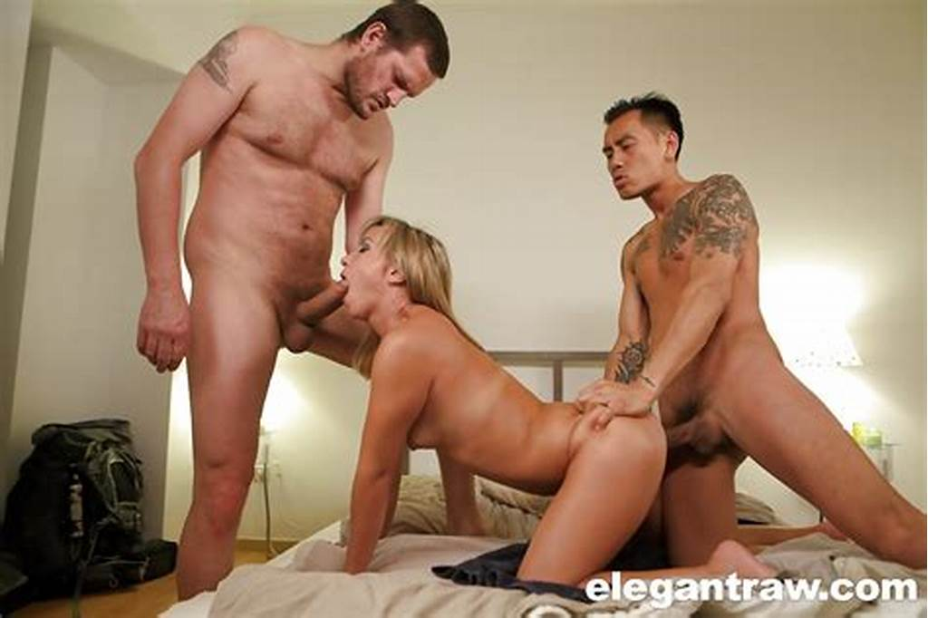 #Amazing #Blonde #Milf #Alysa #Gap #Getting #Fucked #By #Two #Guys