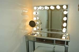 idees d39 eclairage de miroir pour la salle de bain With miroir avec lumià re autour
