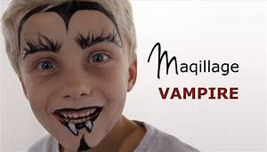 Maquillage Simple Enfant : maquillage halloween facile vampire maquillage facile halloween enfant blog festimania ~ Melissatoandfro.com Idées de Décoration