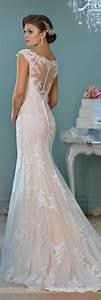 Elegant off shoulder crystal lace wedding dress cute for Lacy wedding dresses