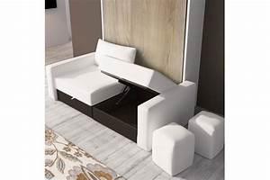 Lit Avec Armoire : armoire lit escamotable avec canape lit relevable plafond efutoncovers ~ Teatrodelosmanantiales.com Idées de Décoration