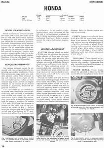 Service Manual For Honda Z50  1972