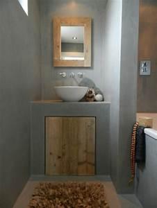16 idees beton pour des salles de bain design With salle de bain en dur
