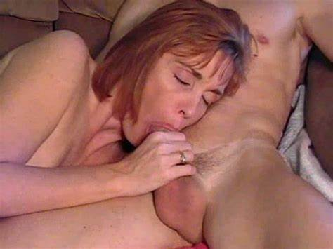 Small Redhead Mama Masturbation Dick And Having Facialed