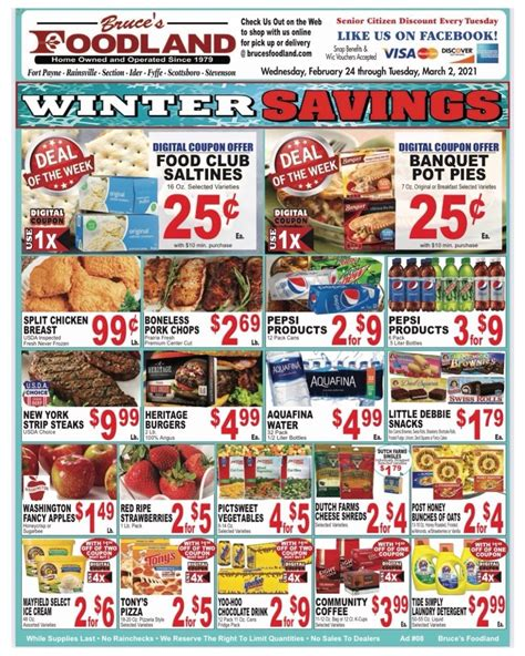 Buy now and enjoy savings. Bruce's Foodland Plus - Grocery Store - Section, Alabama ...