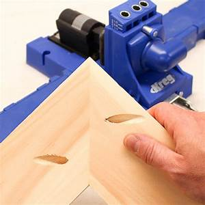 Drilling Pocket Holes On Miter Joints Requires Careful