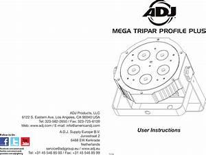 Adj Mega Tripar Profile Plus User Manual