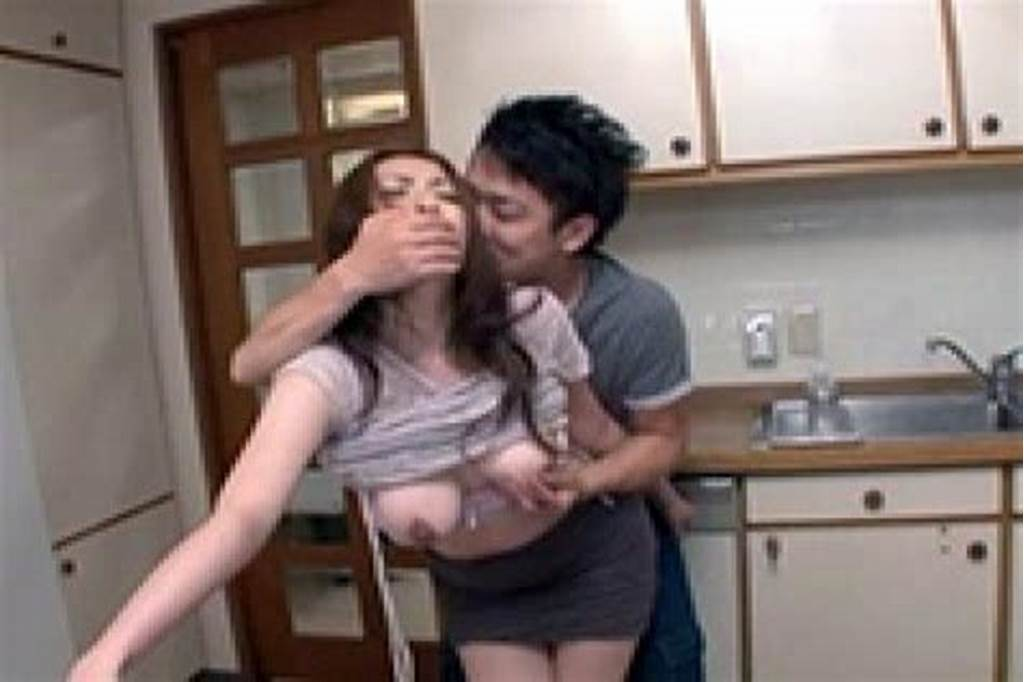 #Japanese #Aunt #Gets #Violated #In #The #Kitchen #By #Teenage