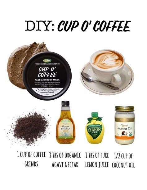 Published 24 oktober 2015 | by evelien. DIY Lush Cup o' Coffee mask! Super simple to make and rocks for exfoliating dull, uneven skin ...