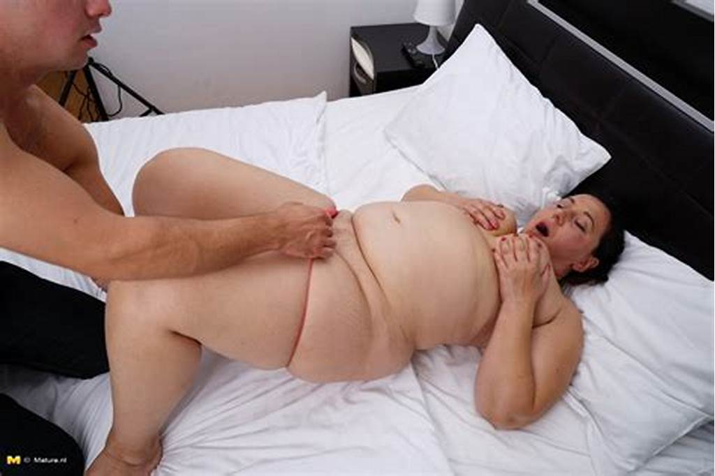 #Older #Fat #Woman #Is #Stripped #Naked #By #Younger #Guy #During