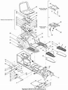 Mtd 14at818h205  2003  Parts Diagram For Seat  Fender Assembly