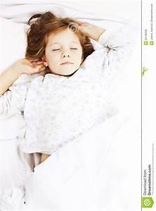 Sonno Dolce Della Bambina Fotografia Stock  Immagine Di