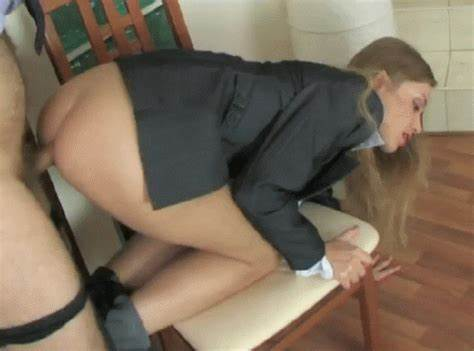 Pigtailed Hairy Schoolgirl Asshole Pounding