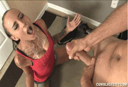 An Explosive Dildo Suck Session #Cleavage #Cum #Cumshot #Facial #Female #Gif #Kneel #Mouth