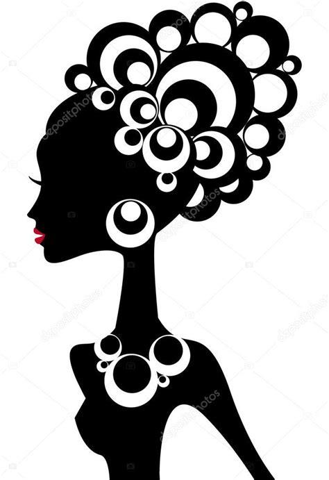 Garota negra Ilustração de Stock Arte de silhueta