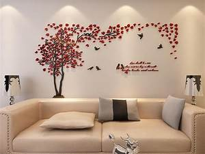 Living Room Wallpaper Feature Wall Red ...