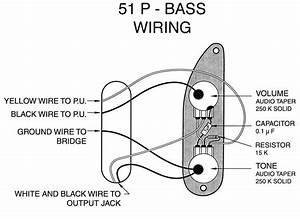 Fender P Bass  U0026 39 51- U0026 39 55 Wiring Mod