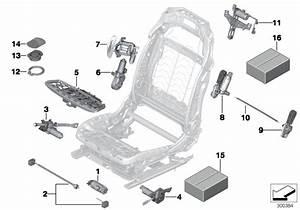 Bmw X5 Drive  Vertical Headrest Adjustment  Front  Seat