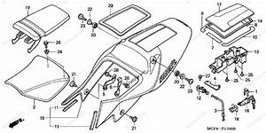 Honda Motorcycle 2000 Oem Parts Diagram For Seat    Seat