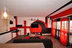 Decoration Salon Rouge Noir Blanc. decoration salon rouge noir blanc ...