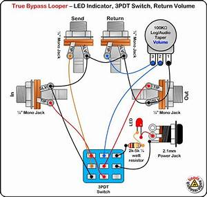 Four Loop True Bypass Pedal Wiring Diagram